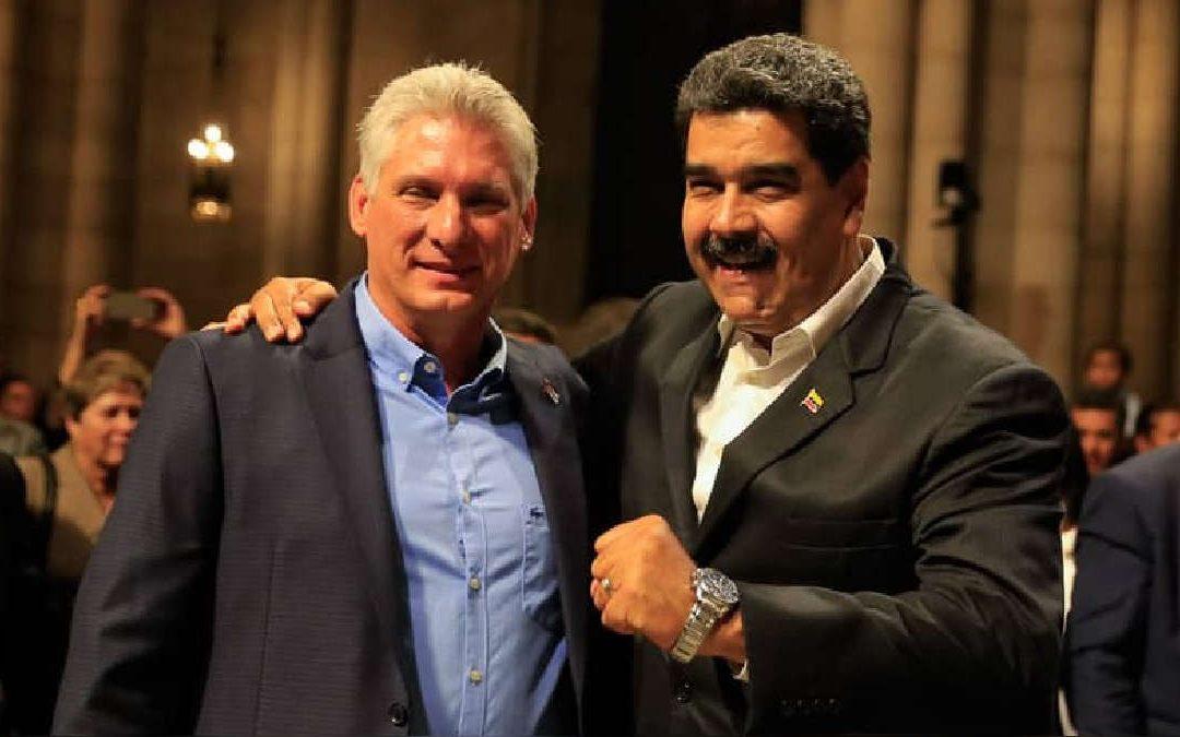 Díaz-Canel y Maduro hablan a simpatizantes pero echan a medios de prensa de EEUU y Europa