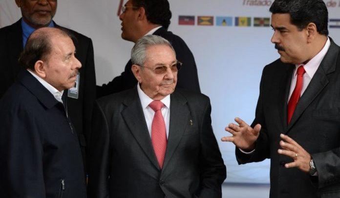 Venezuela, Nicaragua y Cuba, las «dictaduras»