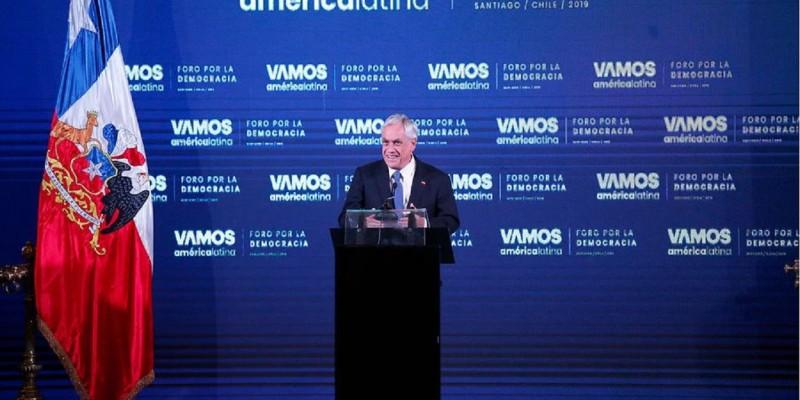 Sebastián Piñera por Venezuela, Nicaragua y Cuba: «Expresan el fracaso del socialismo del siglo XXI»